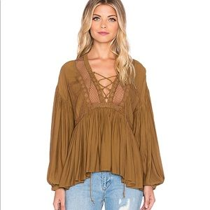 Free People Don't let go Peasant top in Gingersnap